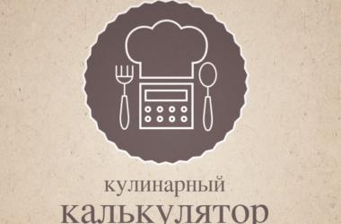 Кулинарный калькулятор онлайн: перевод объема и веса