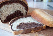 Домашний ржаной мраморный хлеб