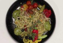 Феттучини со свининой и овощами (в мультиварке)