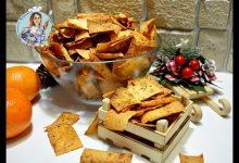 Хрустящие пикантные чипсы из лаваша