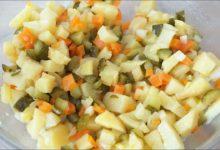 Картофельный салат как в садике