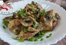 Курица в сливочно-грибном соусе