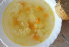 Суп из цветной капусты постный
