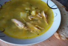 Суп постный с зеленым горошком