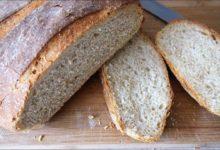 Хлеб домашний серый из трех сортов муки