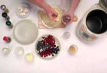 Запеканка творожная с ягодами (в мультиварке)